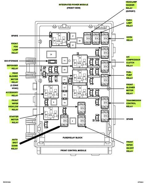 Wiring Diagram Grand Caravan 2006 by 2006 Grand Caravan Electrical Problems Car Will Start