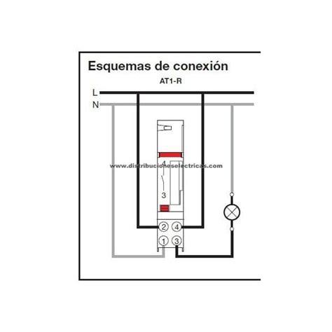conexi 243 n de interruptor horario at1 r y disyuntor magnetot 233 rmico gv2me07 a motor monof 225 sico de 1