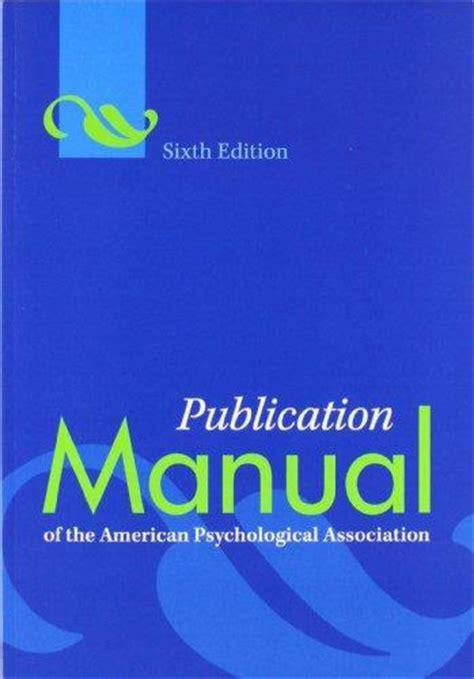 isbn  publication manual   american
