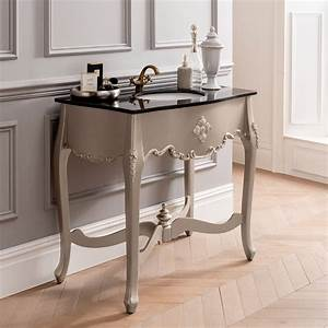 Silver, Antique, French, Style, Vanity, Unit