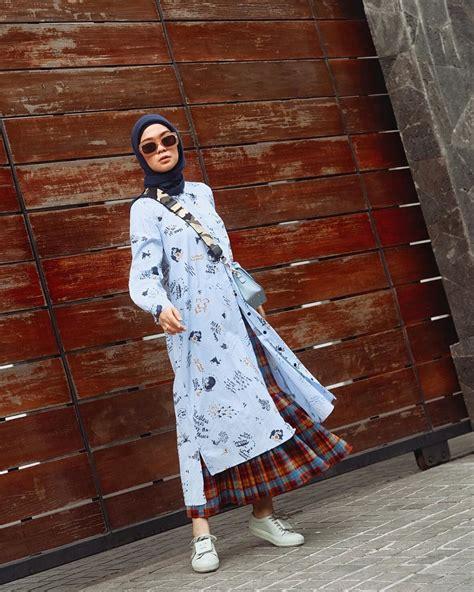 outfit style hijab   pantai  modis