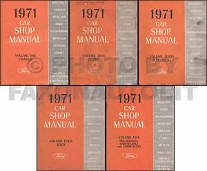 Original 1971 Shop Manual Lincoln Mark Iii Town Car