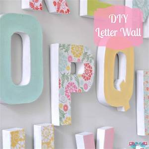 DIY LETTER WALL DECOR - THE LOVE NERDS