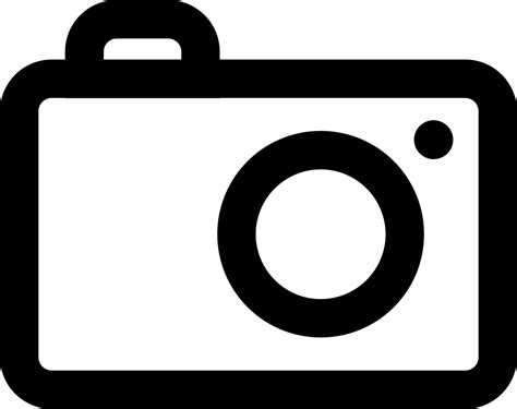 photography camera outline svg png icon