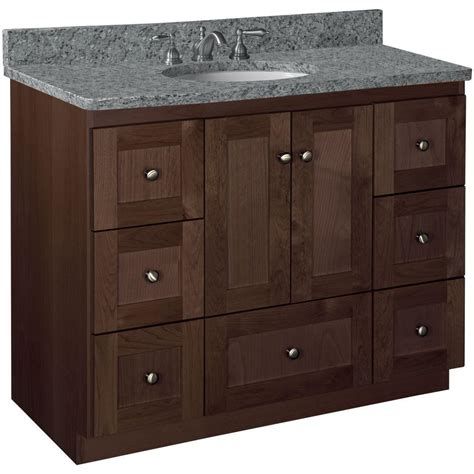 avanity brooks 42 in vanity cabinet only in chilled gray