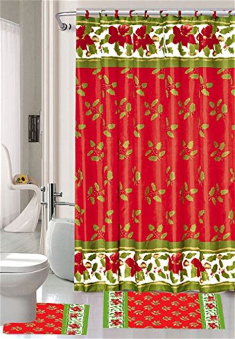 christmas shower curtains waterproof christmas decor