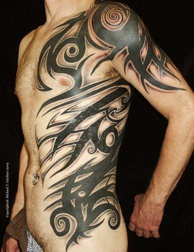 custom tribal  torso tattoo tattoos  michael