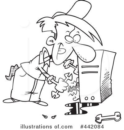 fix clipart black and white computer repair clipart 442084 illustration by toonaday