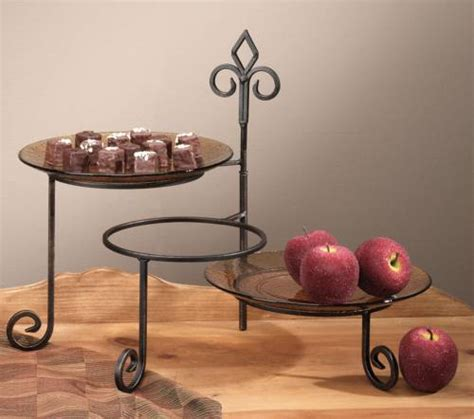 plate stand keller  place tiered swivel tiered plate stands