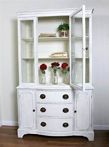 Farmhouse China Cabinet Makeover With Shiplap