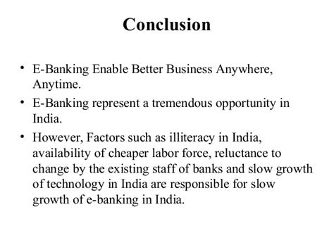 What changes has it brought to the depository institutions'. E banking service of sbi bank