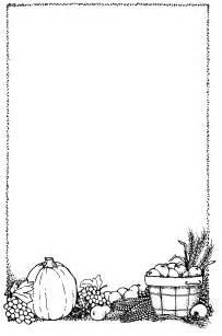 Black and White Thanksgiving Border Clip Art