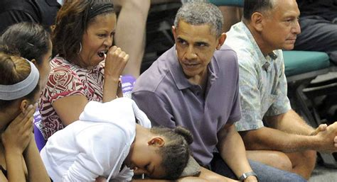 obama  white house   family life  normal