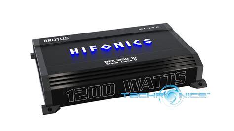 hifonics brutus elite bex1250 1d 1200w mono block class d car lifier ebay