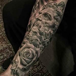 Zeus Roses Tattoo Arm - Ideas Tattoo Designs