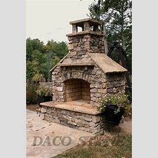 """Outdoor Fireplace Kit 36""""  Outside Fireplace In 2019"""