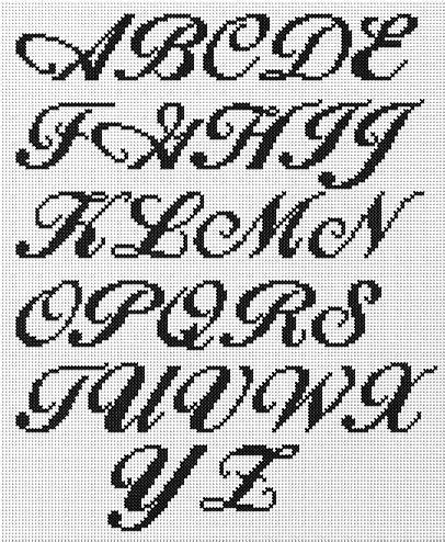 resultado de imagen para letras cursivas minusculas en punto de bolsa cross stitch