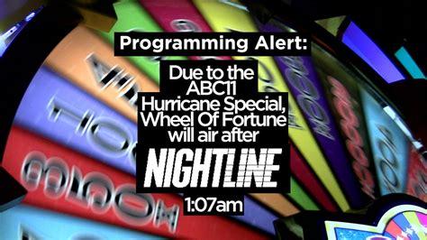 programming alert wheel  fortune  air  nightline
