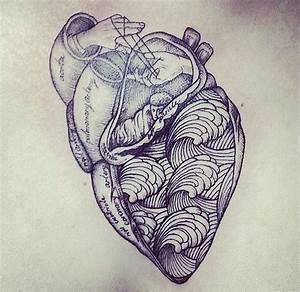 anatomical heart, tattoo artist unknown | cuts, bruises ...