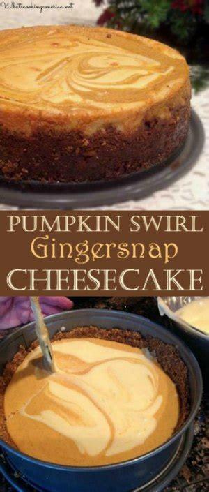 pumpkin swirl gingersnap cheesecake recipe pumpkin