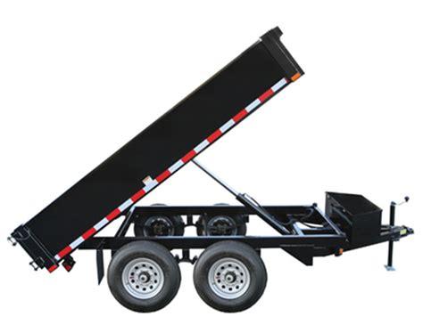 ton hydraulic dump trailer johnson trailer