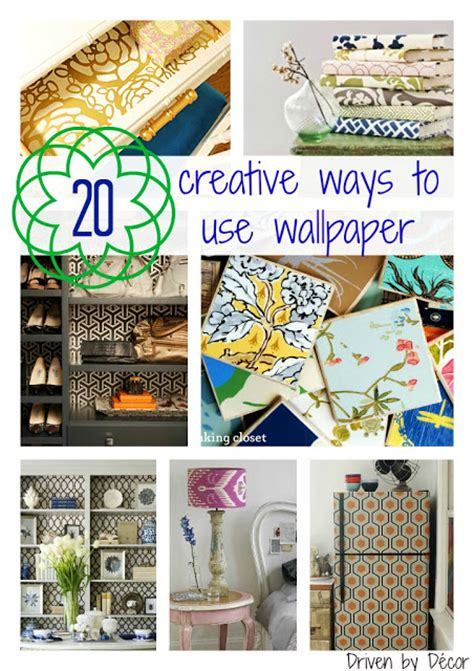 Wallpaper & Wrapping Paper Creative Uses In Your Home  Driven By Decor