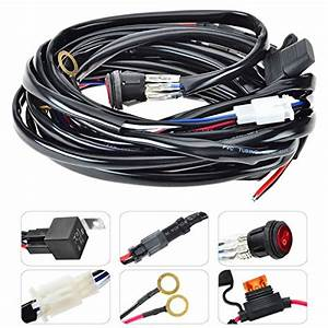 Kawell Led Wiring Harness Include Switch Kit Suppot 300w