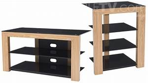 Meuble Hifi Bois : meuble chaine hifi bois meuble tv verre noir trendsetter ~ Voncanada.com Idées de Décoration