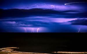 Lightning Clouds Storm Ocean HD wallpaper | nature and ...
