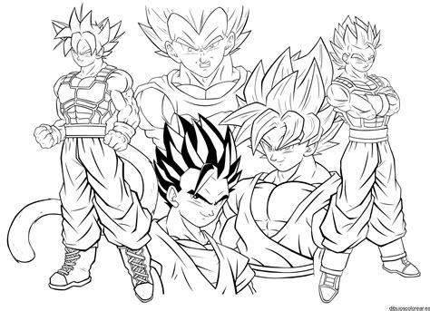 bardock drawing coloring coloring pages