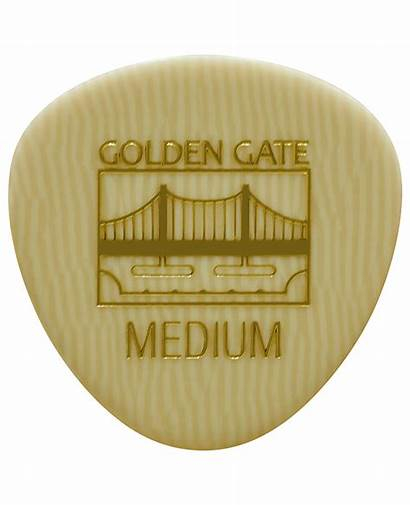 Mp Golden Gate Pick Flat Ivoroid Rounded