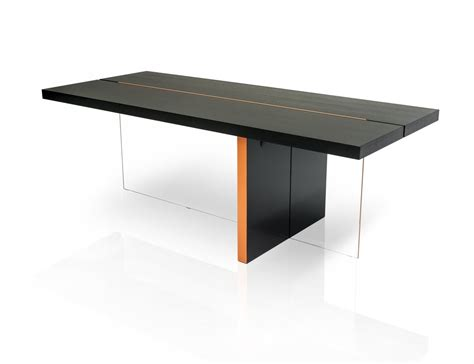 modern black table l modrest vision modern black oak floating dining table