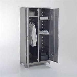 ideale dans une entree ou dans une chambre l39armoire With porte de maison prix 3 armoire vestiaire americain 1 porte en metal hiba la