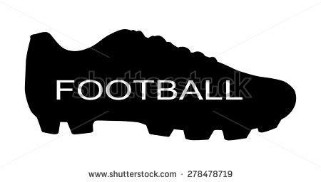 silhouette soccer shoes football vector stock vector