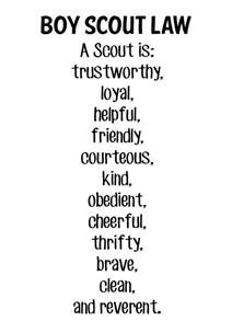 Boy Scout Oath and Law Printable