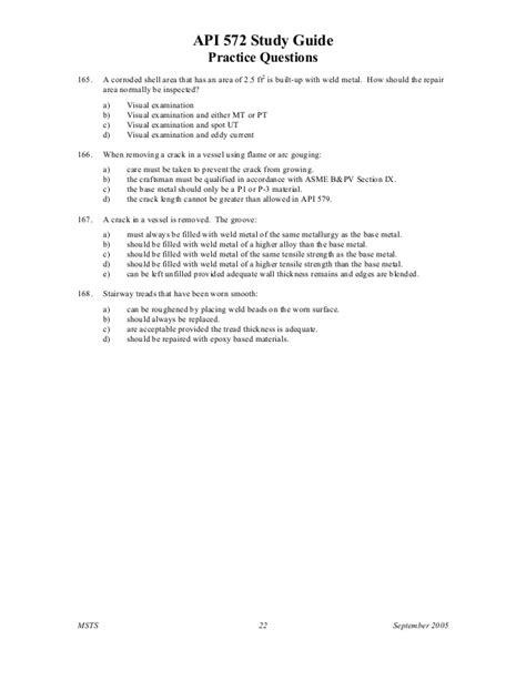 Api 572 study guide