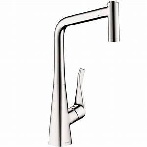 Hans Grohe Metris : hansgrohe metris single handle pull out sprayer kitchen faucet in chrome 14820001 the home depot ~ Orissabook.com Haus und Dekorationen