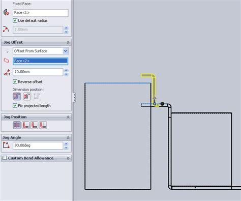 jog cswp sheet metal 3d engineer