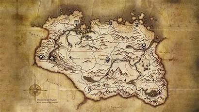 Elder Scrolls Skyrim Map Wallpapers Backgrounds Desktop