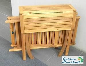 Balkonmöbel Set Holz : klappbare balkonm bel nabcd ~ Yasmunasinghe.com Haus und Dekorationen