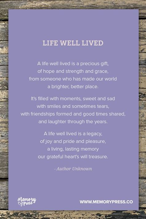 Well Lived Life Quotes
