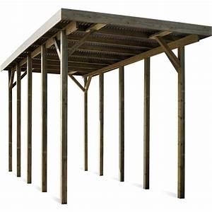 Carport Camping Car : carport en bois pour camping car 25 7 m jardipolys ~ Dallasstarsshop.com Idées de Décoration