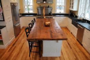 reclaimed wood kitchen island reclaimed white pine kitchen island counter transitional