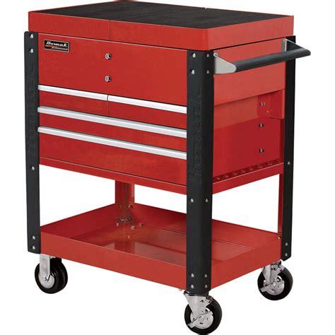 homak pro series service cart  sliding top panels