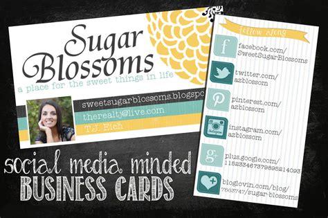 sweet sugar blossoms social media business cards