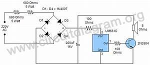 Easy 220v Doorbell Using Um66 Ic