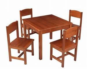 Table De Ferme Et 4 Chaises Brun Kidkraft 21451