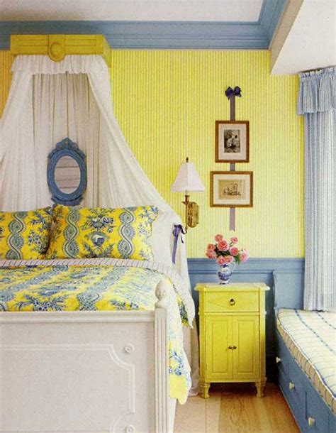 yellow and blue bedroom french bedroom in yellow and blue interiors by color 17894 | blue and yellow bedroom vitnage