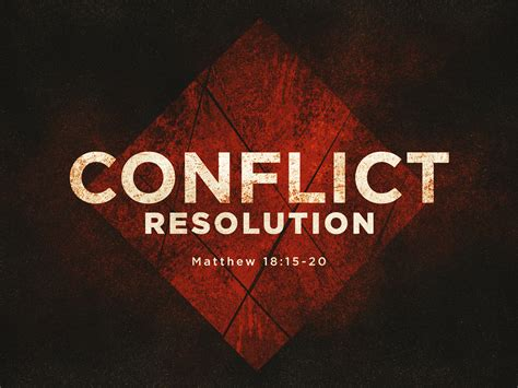 Commonunity Week 3 Conflict Resolution Grace Church