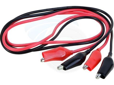 jumper cables positive color 18awg pair of dual black test leads alligator